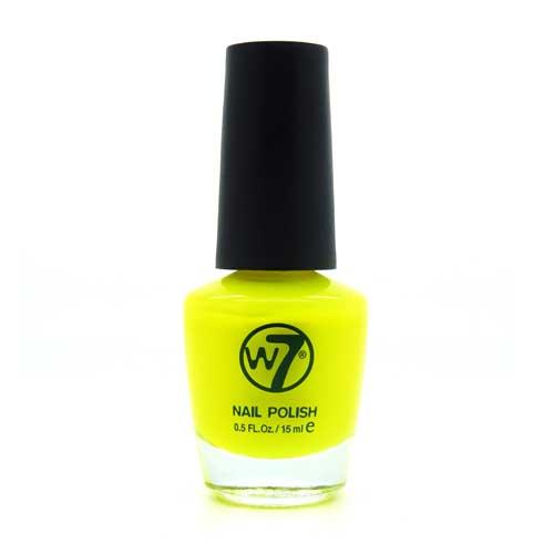 W7 Nagellak #016 - Fluorescent Yellow