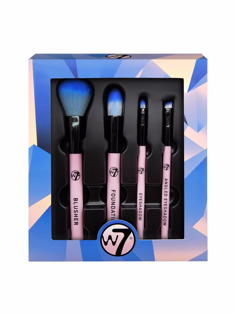 W7 Professional Pink brush set 4 pcs