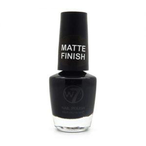 W7 Nagellak #055 - Matt Black