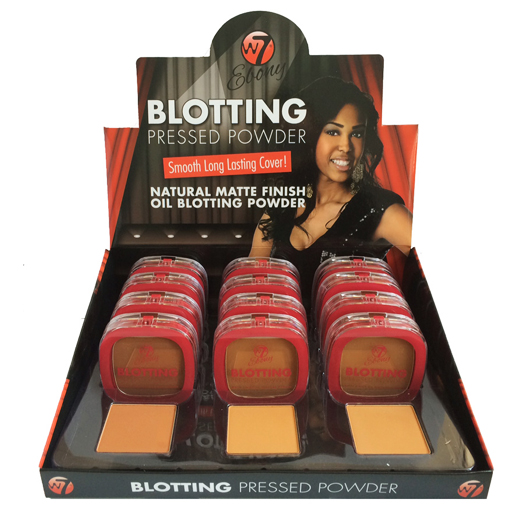 W7 Blotting Powder Ebony (12 stuks)