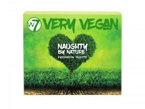 W7 Very Vegan Naughty By Nature Eyeshadow Pallet 8 stuks op display